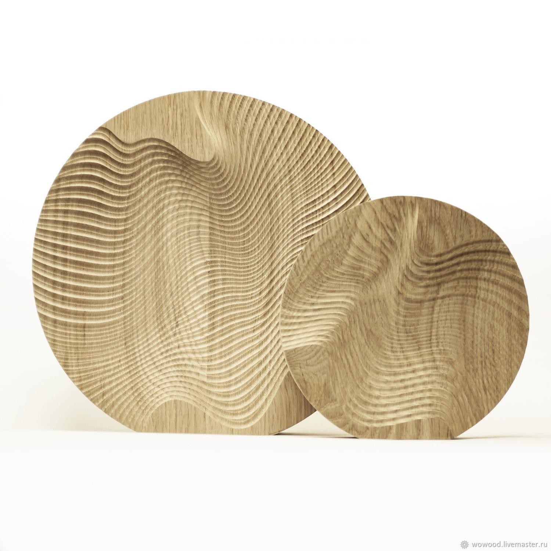 Декор для интерьера в наборе из двух элементов, массив дуба, Скульптуры, Санкт-Петербург,  Фото №1