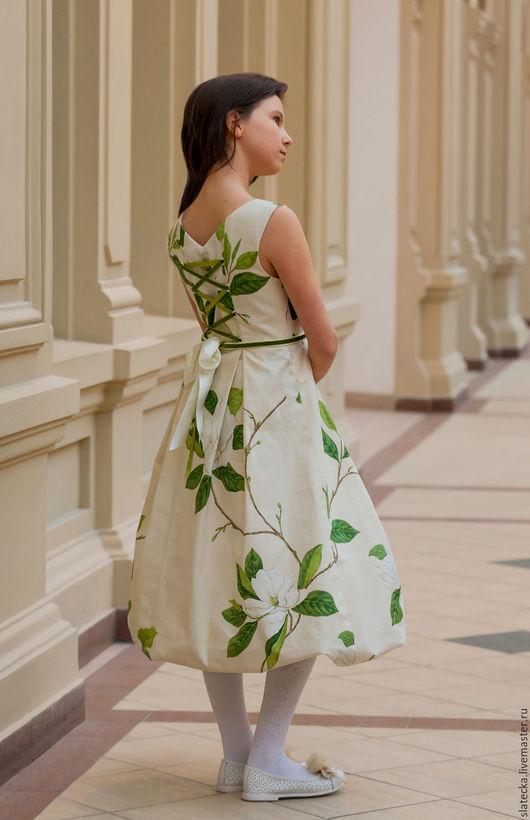 Для подростков, ручной работы. Ярмарка Мастеров - ручная работа. Купить платье  Магнолия. Handmade. Комбинированный, ручная работа, бисер