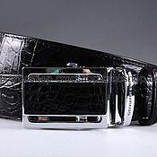 Аксессуары handmade. Livemaster - original item Crocodile leather belt IMA3021B. Handmade.