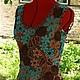"""Платья ручной работы. Платье """" Загадка """" продано. Елена Захарьина. Ярмарка Мастеров. Цветочный, бирюзовый"""