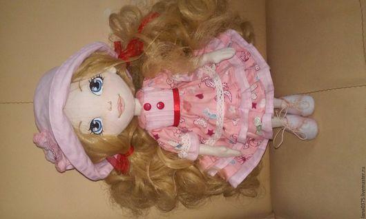 Человечки ручной работы. Ярмарка Мастеров - ручная работа. Купить Кукла Алена. Handmade. Ярко-красный, текстильная кукла, блондинка