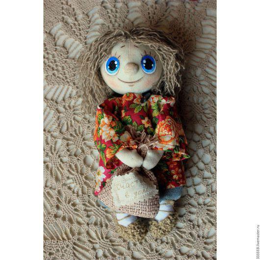 Коллекционные куклы ручной работы. Ярмарка Мастеров - ручная работа. Купить домовенок Кузя. Handmade. Ярко-красный, интерьерная игрушка