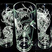 Посуда handmade. Livemaster - original item Crows. High beer mug.. Handmade.