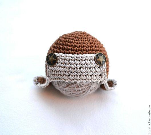 Для новорожденных, ручной работы. Ярмарка Мастеров - ручная работа. Купить Шапка ушанка для фотосессии новорожденного мальчика. Handmade. Шапка