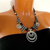 Украшения handmade. Livemaster - original item Necklace stylish, boho decoration, original pendant, fashion necklace metal. Handmade.