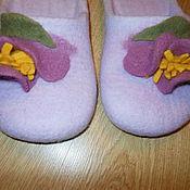Обувь ручной работы. Ярмарка Мастеров - ручная работа Тапочки с цветком,шлепками.. Handmade.