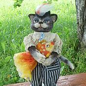 """Куклы и игрушки ручной работы. Ярмарка Мастеров - ручная работа """"Кавалер"""" Валяный котик.. Handmade."""