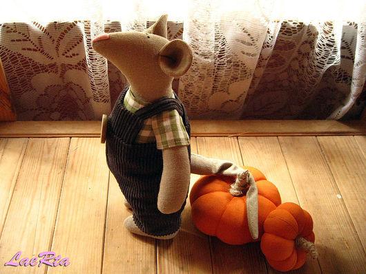 Куклы Тильды ручной работы. Ярмарка Мастеров - ручная работа. Купить Крыс Крис. Handmade. Крыс, зеленый, клетчатый