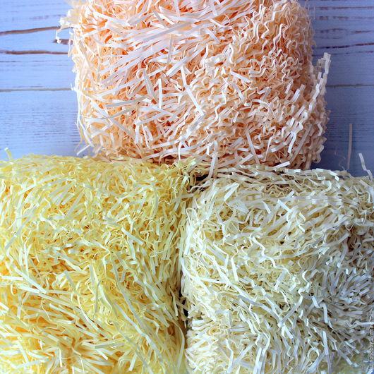 Другие виды рукоделия ручной работы. Ярмарка Мастеров - ручная работа. Купить Наполнитель бумажный желтый. Три оттенка. Скрапэлементы... Handmade.