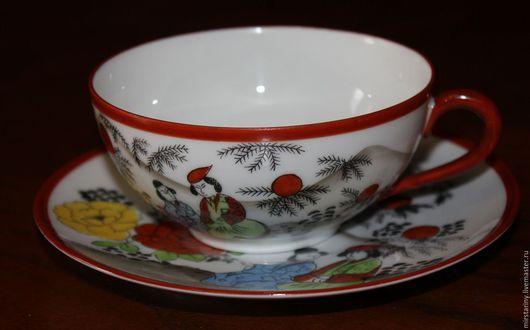 Винтажная посуда. Ярмарка Мастеров - ручная работа. Купить Красивая, винтажная, фарфоровая чайная пара, Кутани, Япония. Handmade.