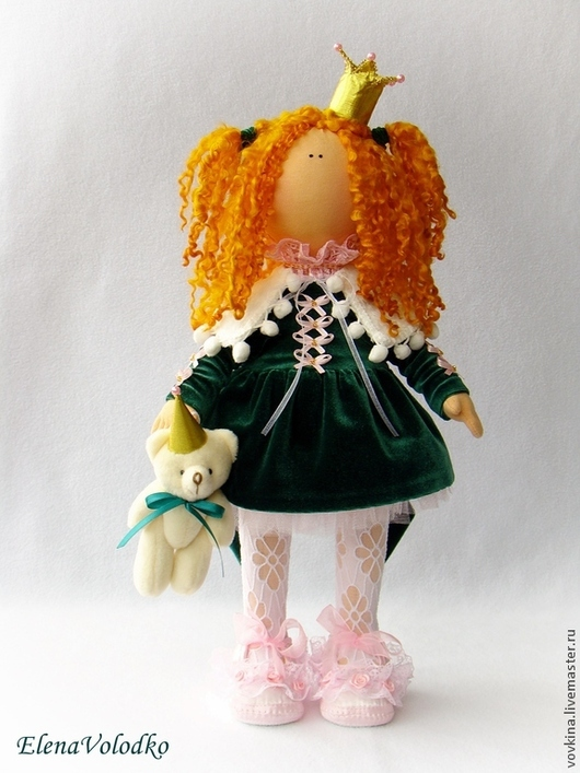 Коллекционные куклы ручной работы. Ярмарка Мастеров - ручная работа. Купить Кукла Принцесса Анечка. Handmade. Интерьерная кукла, бархат