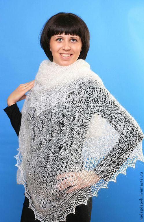 Shawls: 34 down shawl gossamer Orenburg shawl, Shawls1, Orenburg,  Фото №1