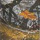 Пейзаж ручной работы. Заказать Картина Зеркало Осени на хб ткани в технике горячего батика. Мария. Ярмарка Мастеров. Осень