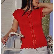Одежда handmade. Livemaster - original item crocheted summer tunic sunset