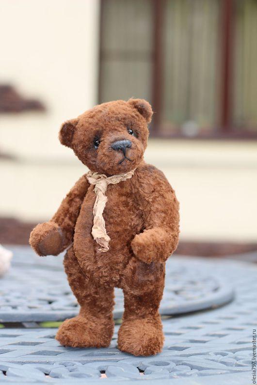 Мишки Тедди ручной работы. Ярмарка Мастеров - ручная работа. Купить Крепыш.... Handmade. Коричневый, teddy bear, древесная шерсть