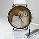 """Часы ручной работы. Ярмарка Мастеров - ручная работа. Купить Часы наручные JK """"Котики"""". Handmade. Наручные часы в подарок"""