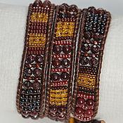 Украшения handmade. Livemaster - original item Bracelet, Chan Lou Bordeaux.Bracelet winding.Chan Luu.Talisman. Handmade.
