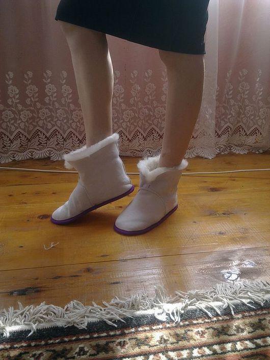 Обувь ручной работы. Ярмарка Мастеров - ручная работа. Купить Домашние тапочки ЧУНИ. Handmade. Домашние тапочки, белый