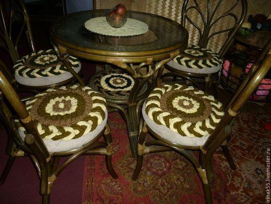 Текстиль, ковры ручной работы. Ярмарка Мастеров - ручная работа. Купить Коврики на стулья. Handmade. Коврики на стулья, декупаж