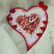 """Для дома и интерьера ручной работы. Ярмарка Мастеров - ручная работа Часы """"Сердечки"""". Handmade."""