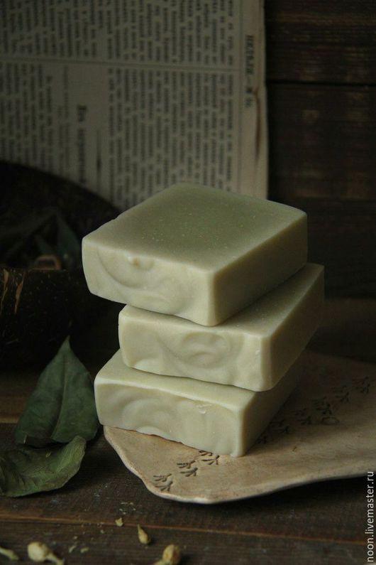 """Мыло ручной работы. Ярмарка Мастеров - ручная работа. Купить Мыло с нуля """"Кинза и зелень"""". Handmade. Оливковый, свежий аромат"""
