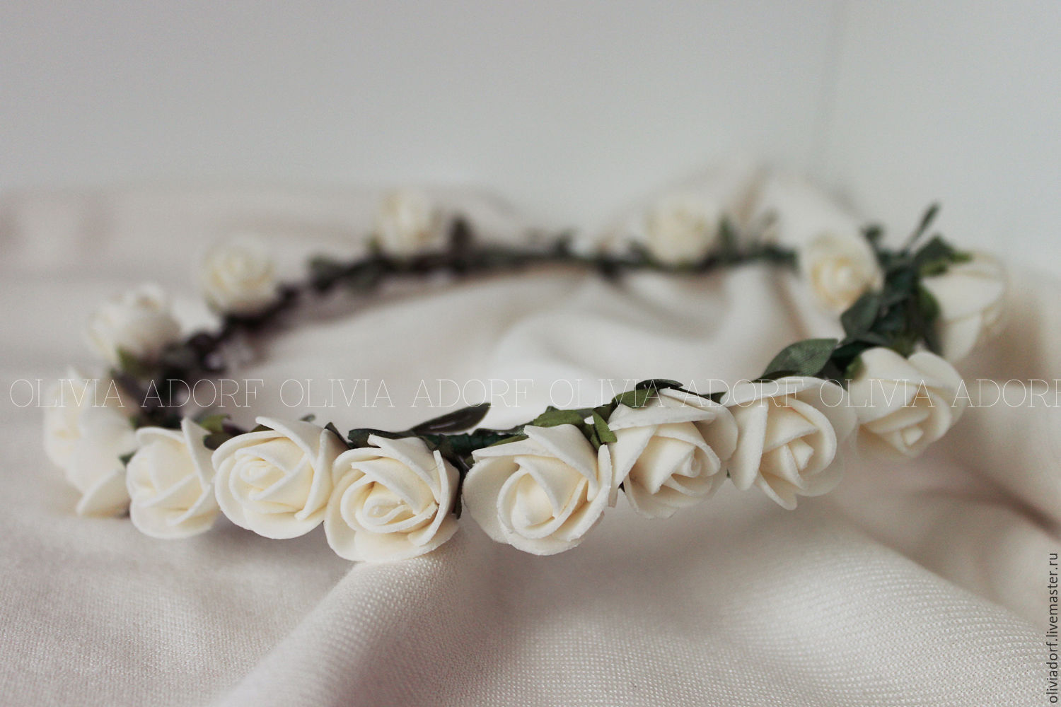 Flower Crown With White Roses Bianca S23 Shop Online On
