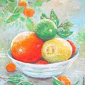 """Картины и панно ручной работы. Ярмарка Мастеров - ручная работа Картина """"Витаминный рай"""" Натюрморт,апельсины,мандарин цитрус. Handmade."""