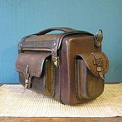 сумка (кофр) из натуральной кожи