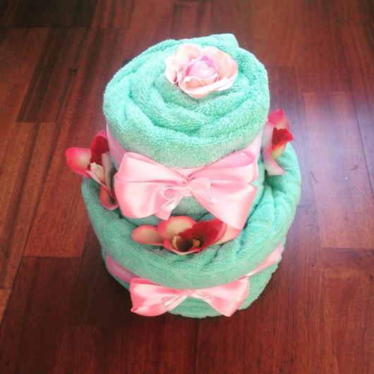 Подарки для новорожденных, ручной работы. Ярмарка Мастеров - ручная работа. Купить Торт из детских полотенец. Handmade. Торт, подарок