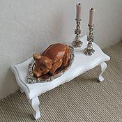 Кукольная еда ручной работы. Ярмарка Мастеров - ручная работа Поросенок запеченный 1:12. Handmade.
