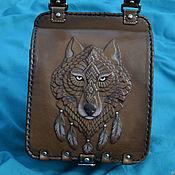 "Classic Bag handmade. Livemaster - original item Leather bag ""SPIRIT OF THE WOLF"". Handmade."