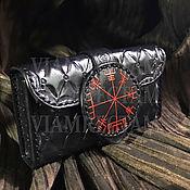 "Фен-шуй и эзотерика handmade. Livemaster - original item Leather case for Runes / Tarot ""Vegvisir"". Handmade."