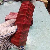 Материалы для творчества handmade. Livemaster - original item Stabilized birch suvel for knife. Handmade.