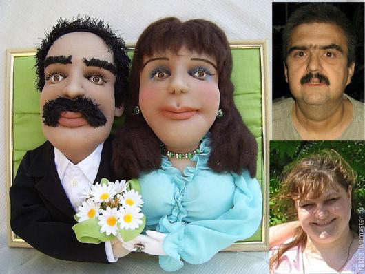 Портретные куклы ручной работы. Ярмарка Мастеров - ручная работа. Купить Семейный портрет куклы по фото. Handmade. Голубой