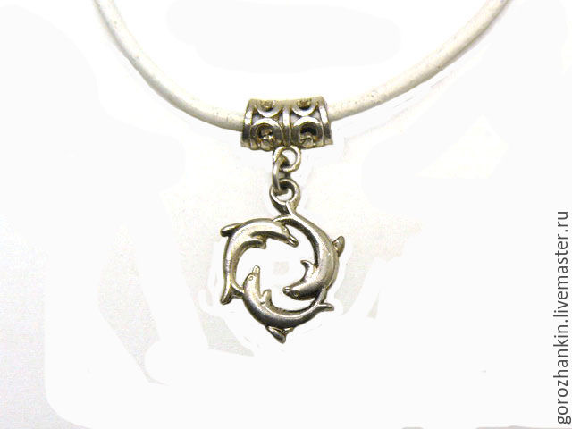 Pendant amulet `Three dolphins` silver 925 buy to give the pendant `Three dolphins` girlfriend, boyfriend, children's birthday 23 February Valentine's day every day February 14, talisman protection