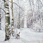 """Картины и панно ручной работы. Ярмарка Мастеров - ручная работа Пейзаж """"Дорога в зиму"""". Handmade."""