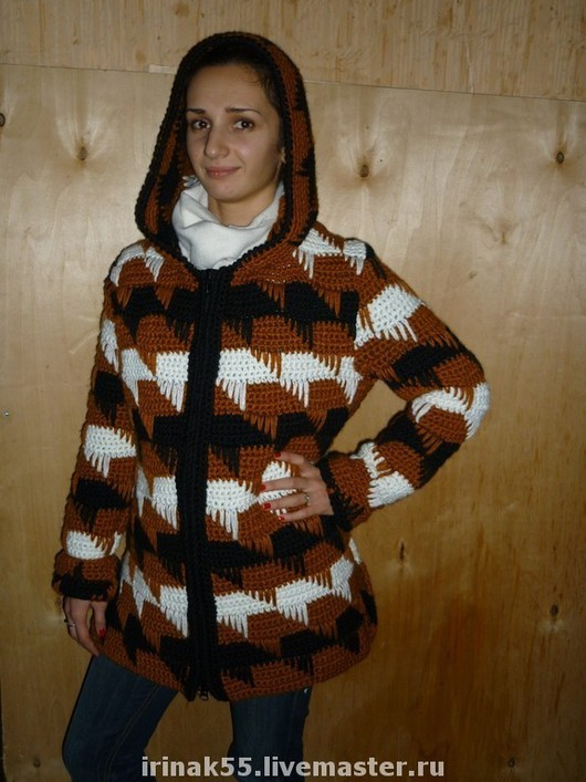 Верхняя одежда ручной работы. Ярмарка Мастеров - ручная работа. Купить Кардиган. Handmade. Вязаное пальто, кардиган, полушерсть