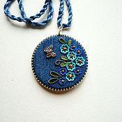 Украшения handmade. Livemaster - original item denim pendant