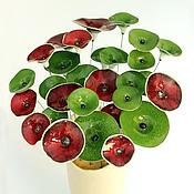Подарки к праздникам ручной работы. Ярмарка Мастеров - ручная работа Kерамические цветы Зеленые. Handmade.