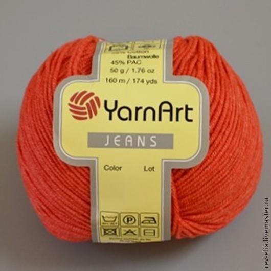 """Вязание ручной работы. Ярмарка Мастеров - ручная работа. Купить Пряжа YarnArt """"Jeans"""". Handmade. Джинс, пряжа для вязания, хлопок"""
