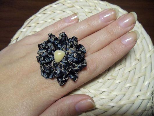 """Кольца ручной работы. Ярмарка Мастеров - ручная работа. Купить Кольцо из кожи """"Пейзаж"""". Handmade. Кольцо, кожа"""