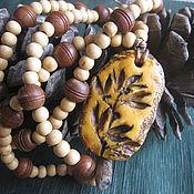 Украшения handmade. Livemaster - original item Sandalwood beads with a pendant