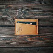 Картхолдер ручной работы. Ярмарка Мастеров - ручная работа Компактный кошелек кардхолдер CARDHOLDER. Handmade.