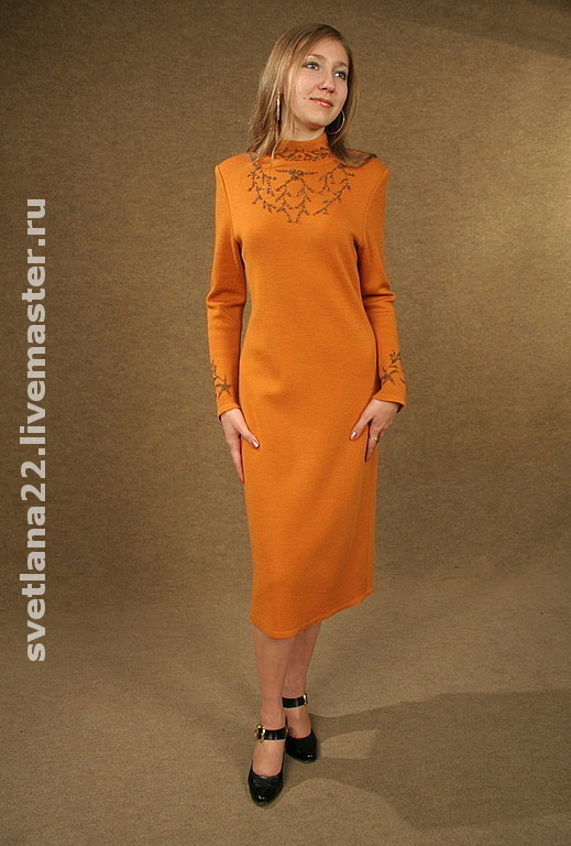"Dresses handmade. Livemaster - handmade. Buy Knitted dress""Coral"".Knitted dress, fashionable dress"