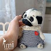 Куклы и игрушки ручной работы. Ярмарка Мастеров - ручная работа мопсик морячок. Handmade.