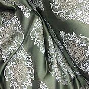 Для дома и интерьера handmade. Livemaster - original item The rest of 4 meters Curtain fabric, emerald with ornament. Handmade.