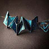 """Украшения ручной работы. Ярмарка Мастеров - ручная работа Заколка из меди """"Оригами"""", медь, украшение. Handmade."""