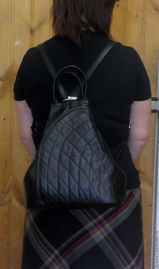 Рюкзаки ручной работы. Ярмарка Мастеров - ручная работа. Купить Рюкзак-сумка 56. Handmade. Черный, рюкзак ручной работы