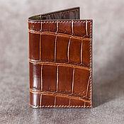 Сумки и аксессуары handmade. Livemaster - original item Cardholder crocodile leather. Handmade.
