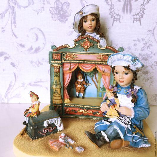 Винтажные сувениры. Ярмарка Мастеров - ручная работа. Купить Статуэтка Девочки. Кукольный театр  Christine Haworth. LEONARDO. Handmade. Статуэтка